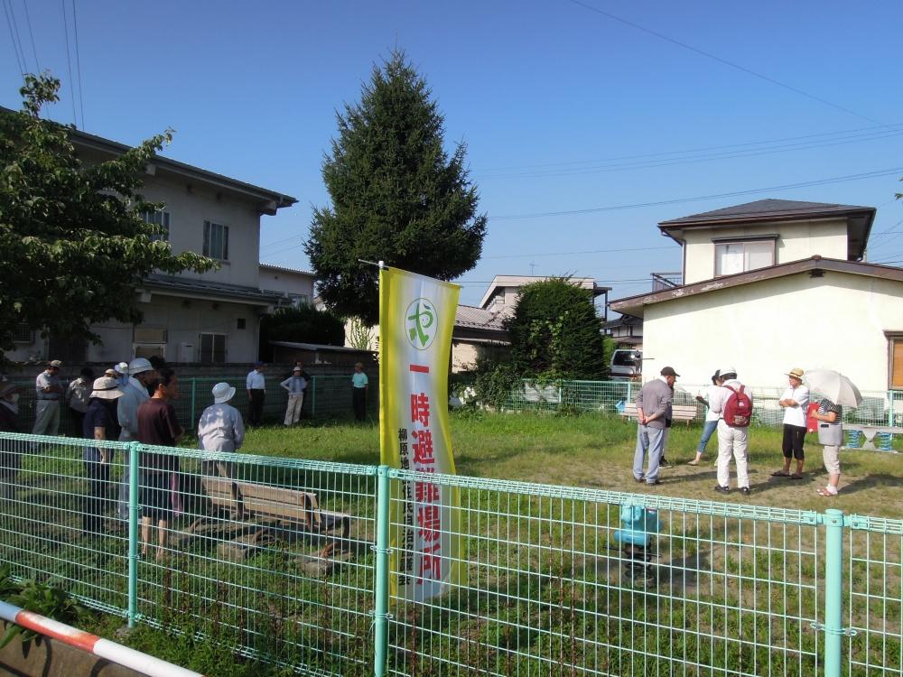 一時避難所には多くの住民の皆様にお集まりいただきました。