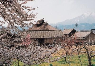 茅ぶき屋根の古い家