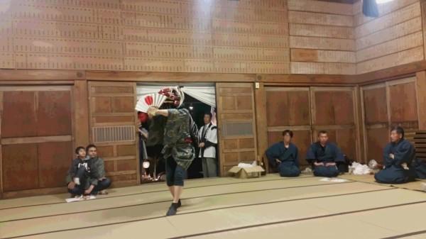神社獅子舞奉納PM8:20頃