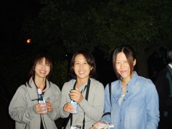 村山の美女3人