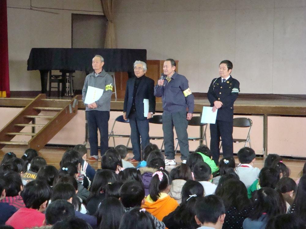 10年間児童を見守ってきた藤沢さんはこの3月15日を持って終止符をうつとのあいさつ