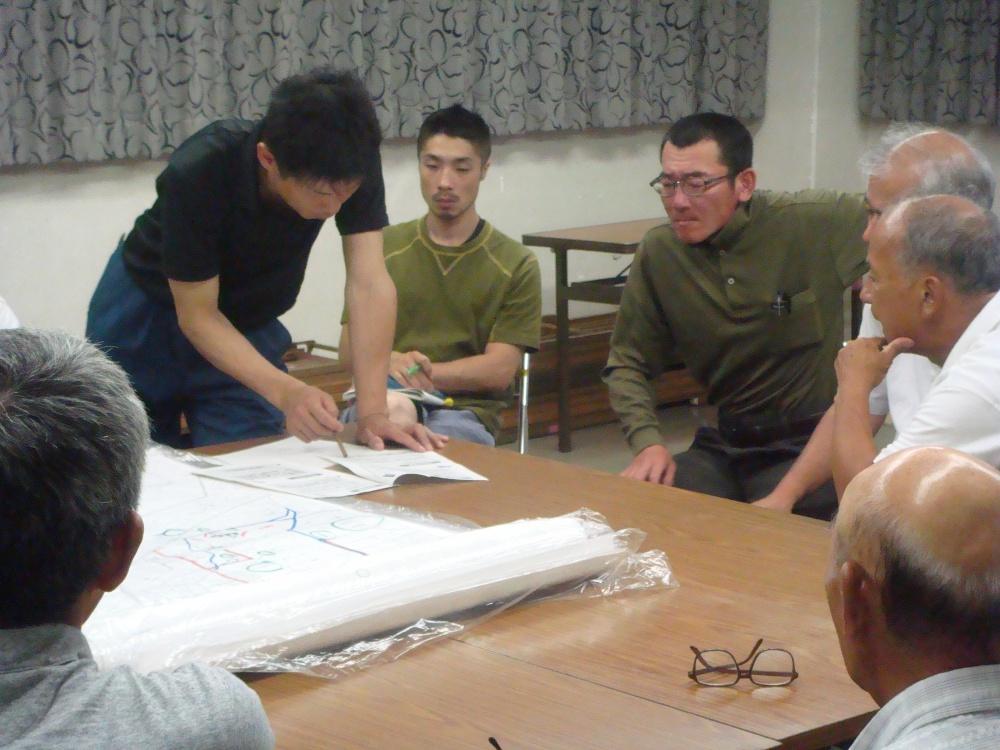 柳原の地図を広げて検討