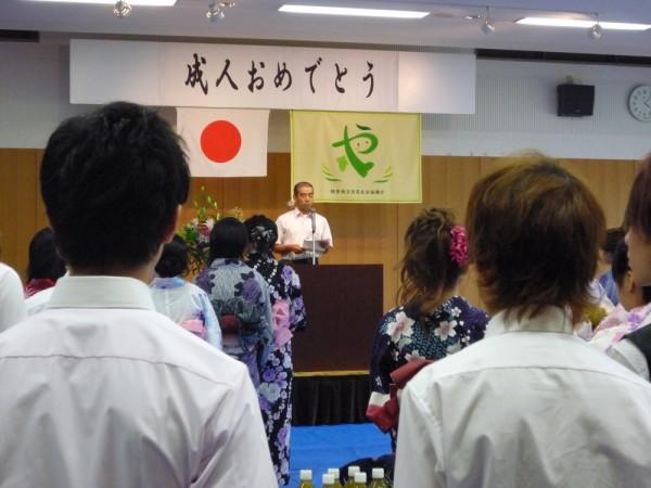 祝賀会「友だちと語る会」 前田先生のあいさつ