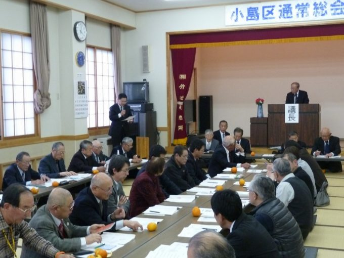 第3号議案役員の選任では、藤澤常会長会長から選挙結果が発表され、滞りなく役員が選任されました。