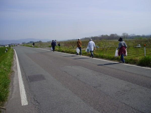国道のゴミ拾い