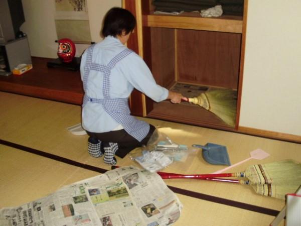 公民館の清掃