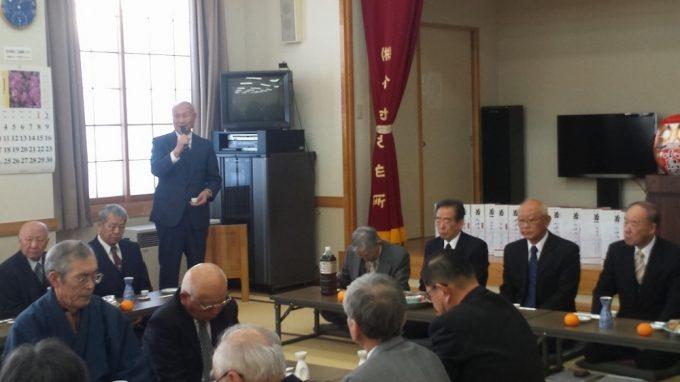 小島区民代表として元区長宮澤康弘様の乾杯の御発声で祝宴となりました。