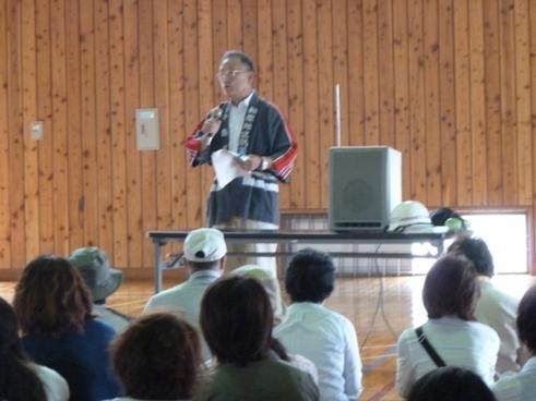 11時10分から訓練終了式 町田区長挨拶 「皆様、真剣な訓練お疲れ様でした」 ベクトルを共にし、解散となりました。