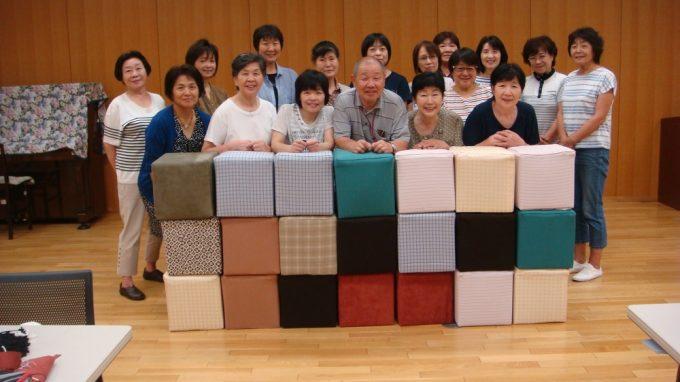 合計21個のいすが完成しました