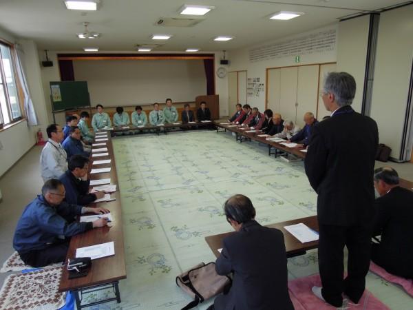 柳原地区の安全のため、会議も真剣に討議がされました。