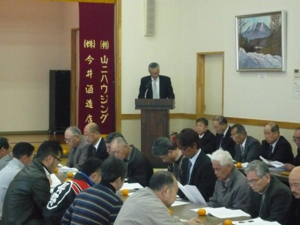 神社関係の議案は、今井氏子総代から説明が行われました。